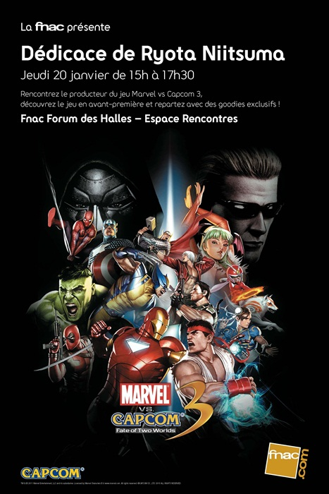 Marvel VS Capcom 3 Dédicaces avec le créateur du jeu
