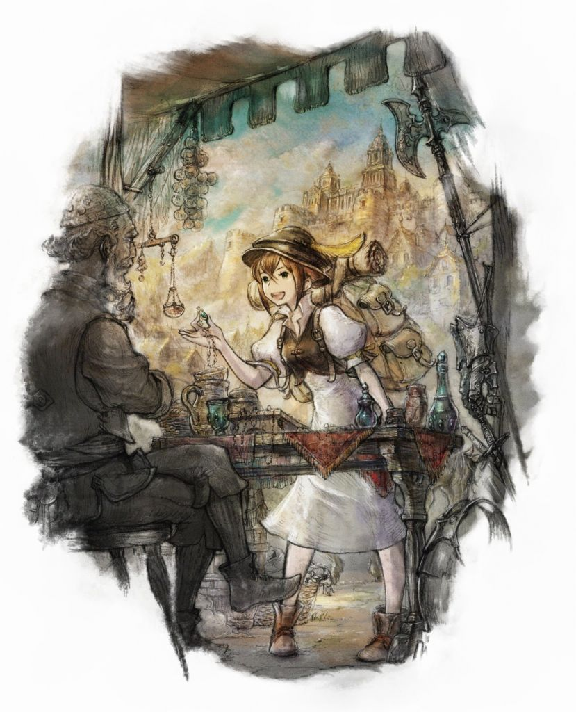Octopath Traveler Tressa